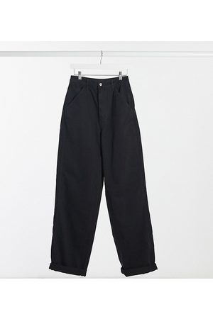 ASOS ASOS DESIGN Tall slouchy chino trouser in black