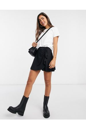 ASOS Mini skirt with ruched detail in black