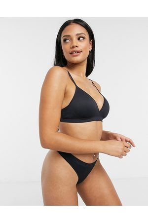 Lindex Petite seamless non wired lightly padded bra in black