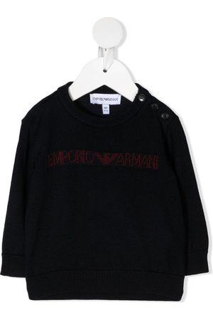 Emporio Armani Jersey con logo de intarsia