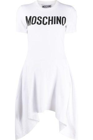 Moschino Vestido con pliegues y logo