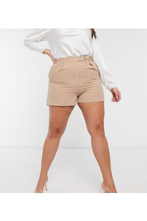 Saint Genies Tailored short co ord in camel
