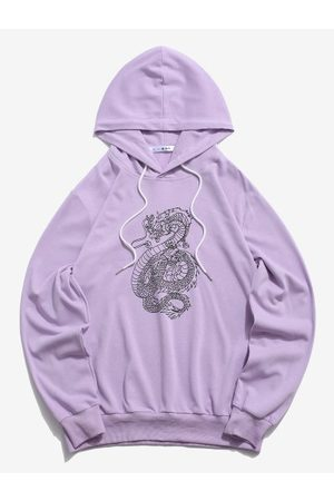 Zaful Dragon Pattern Chinoiserie Hoodie