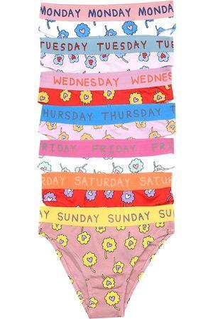 Stella McCartney Set of 7 floral cotton briefs