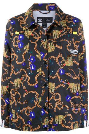 adidas Chain-link pattern shirt