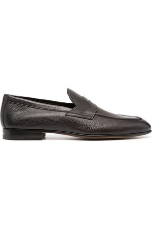 santoni Hombre Mocasines - Pebbled leather loafers