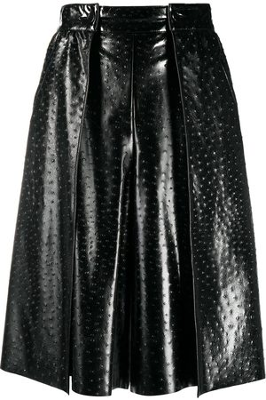 Msgm Mujer Largas - Faux-leather ostrich-effect skirt