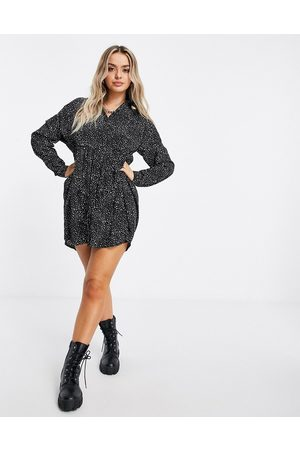 Missguided Smock shirt dress in dalmatian print