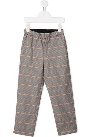 BONPOINT Check cotton trousers