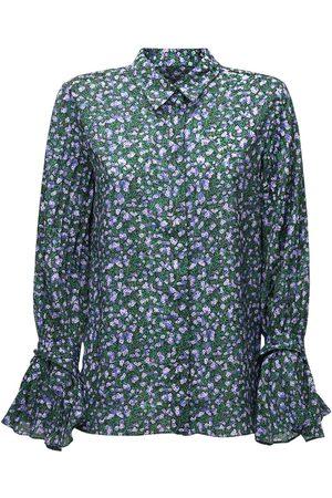 Rokh Camisa Con Estampado Floral Y Mangas Plegadas
