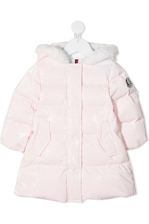 Moncler Abrigos de lana - Faux-fur trimmed down coat