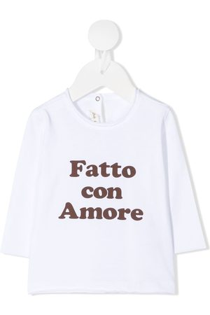 Zhoe & Tobiah Long-sleeved slogan t-shirt