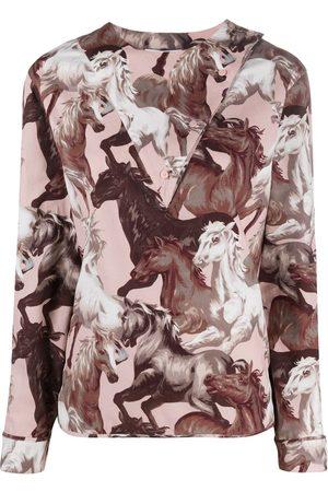 Kenzo Blusa con caballos estampados