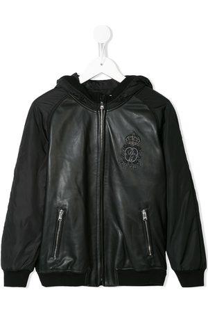 Dolce & Gabbana Chamarra bomber con capucha y logo