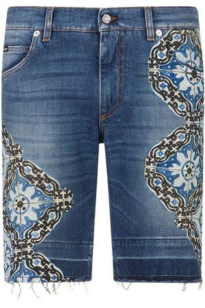 Dolce & Gabbana Hombre De mezclilla - Pantalones vaqueros cortos con detalles