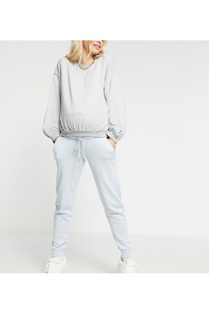 Lindex MOM Exclusive Jo organic cotton fleece joggers in blue