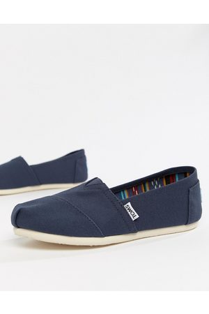 TOMS Classic canvas flat shoes in navy