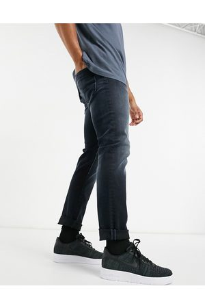 Jack & Jones Intelligence Glenn super stretch slim tapered jean in blue black