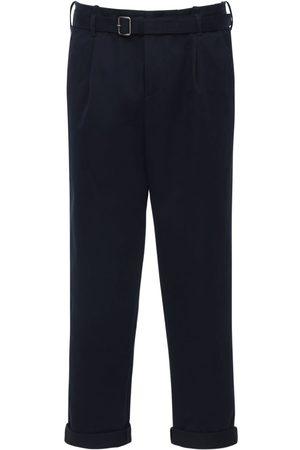 Neil Barrett Pantalones De Algodón Con Cinturón