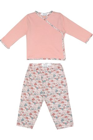 BONPOINT Baby floral cotton top and pants set