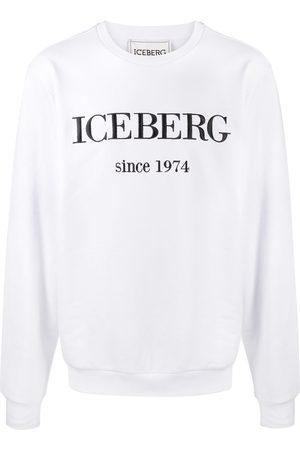 Iceberg Suéter con logo bordado