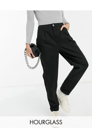 ASOS Hourglass chino trousers in black