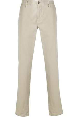 Incotex Pantalones tipo chino rectos con logo