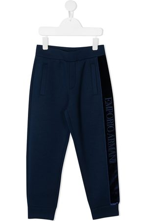 Emporio Armani Pantalones de chándal con raya lateral