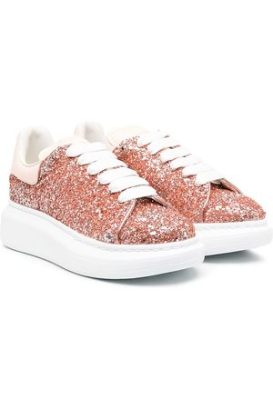 Alexander McQueen Glitter lace-up sneakers