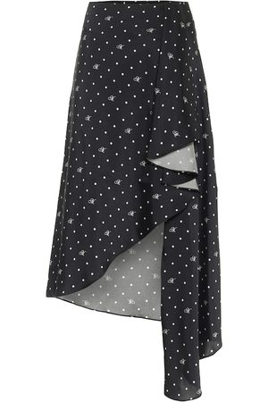MONSE Polka-dot asymmetric midi skirt