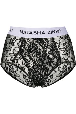 Natasha Zinko Mujer Tangas - Calzones de encaje con logo