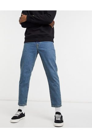 ASOS Classic rigid jeans in tinted mid wash blue