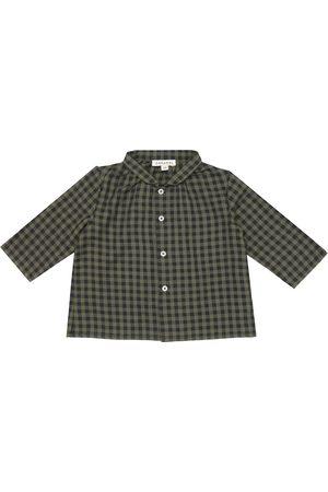 Caramel Baby Raven checked cotton shirt