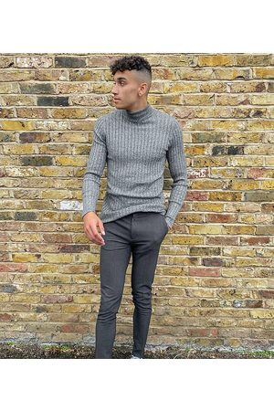ASOS Tall super skinny smart trouser in charcoal