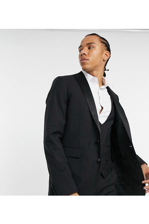Devils Advocate Tall skinny fit tuxedo suit jacket