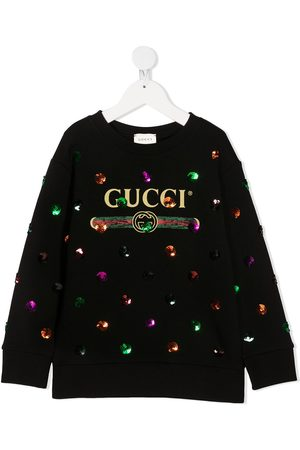 Gucci Sudadera con logo y lentejuelas
