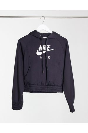 Nike Mujer Con capucha - Air oversized boxy hoodie in black