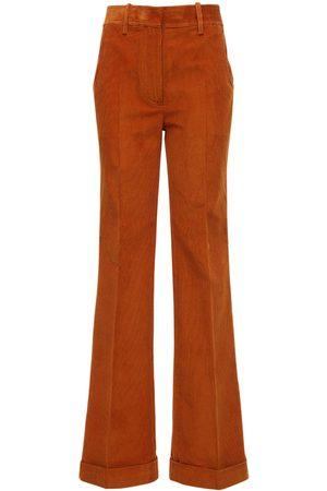 Victoria Beckham High Waist Cotton Corduroy Pants