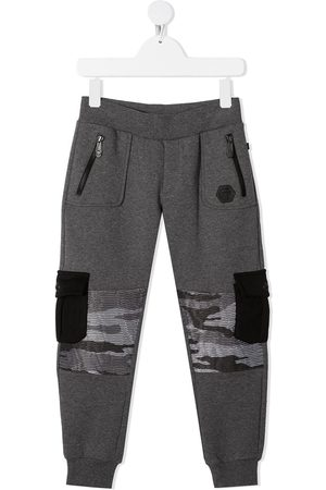 Philipp Plein Camouflage-patchwork track pants