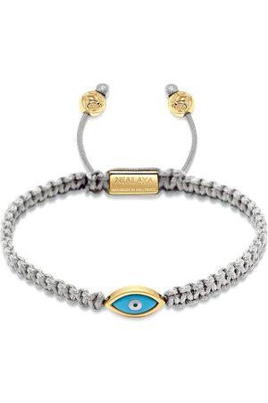 Nialaya Jewelry Pulsera trenzada con baño de oro y ojo
