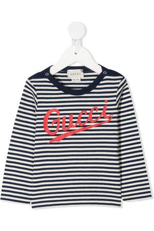 Gucci Striped logo-print T-shirt