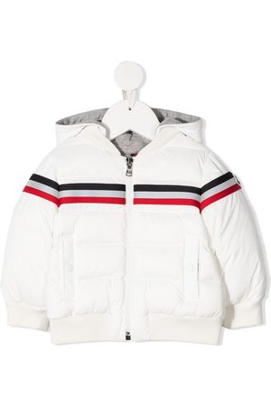 Moncler Striped hooded down jacket