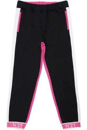 Nº21 Pantalones Deportivos De Algodón Color Block