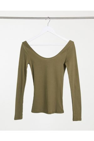 River Island Long sleeved scoop neck t