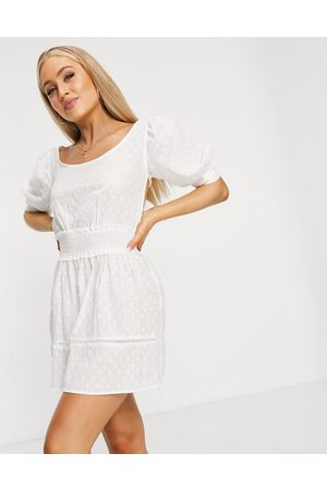 Fashion Union Ramona beach dress in white
