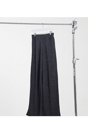 Only Jersey wide leg trousers in grey