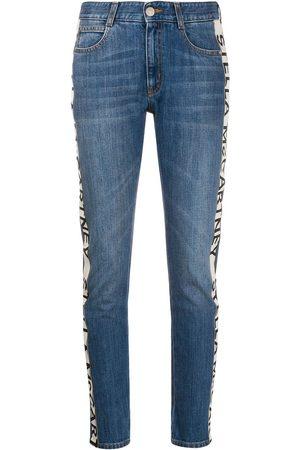 Stella McCartney Mujer Rectos - Jeans capri con logo
