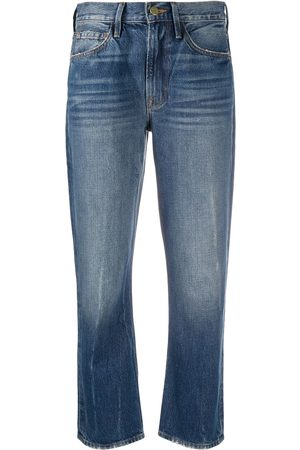 Frame Mid-rise cropped jeans