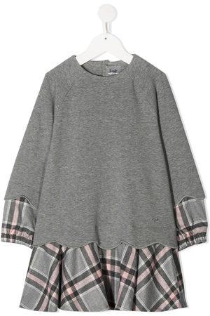 Il gufo Plaid-trimmed cotton dress