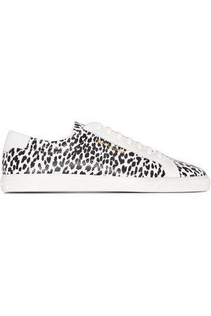 Saint Laurent Andy leopard-print low-top sneakers